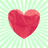 Vintage heart on striped background Stock Images