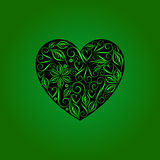 Vintage heart symbol of love valentine's day green Stock Photos