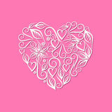 Vintage heart symbol of love valentine's day pink volumetric Royalty Free Stock Photography