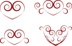 Vintage heart symbols Royalty Free Stock Photo