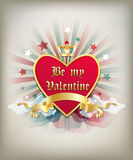 Vintage heart Valentines background Royalty Free Stock Images