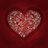 Vintage heart vector on grunge background. Vector Stock Images