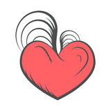 Vintage heart vector tatoo Stock Photography