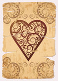 Vintage Hearts ace poker playing cards vector illustration