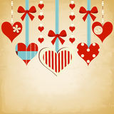Vintage hearts background Royalty Free Stock Image