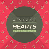 Vintage Hearts Background. Royalty Free Stock Photo