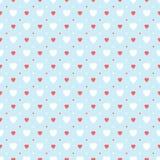 Vintage hearts pattern Stock Photos