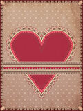 Vintage hearts poker card Royalty Free Stock Images