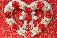 Vintage hearts from rose flower Royalty Free Stock Photos