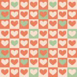 Vintage Hearts seamless pattern. Royalty Free Stock Photography