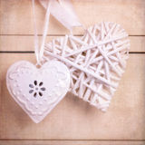 Vintage hearts with texture Royalty Free Stock Image
