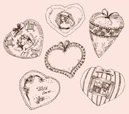 Vintage hearts for Valentines Day Royalty Free Stock Image