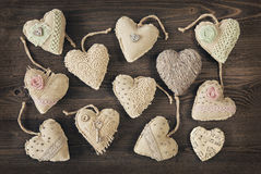 Vintage hearts Royalty Free Stock Image