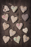 Vintage hearts Stock Photo