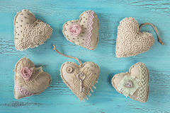 Vintage hearts Stock Photos