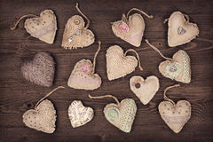 Vintage hearts Royalty Free Stock Photo