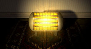 Vintage Heater On Persian Carpet Stock Photography