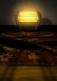 Vintage Heater On Persian Carpet Royalty Free Stock Photos