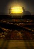 Vintage Heater On Persian Carpet Royalty Free Stock Photos