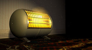 Vintage Heater On Persian Carpet Stock Image