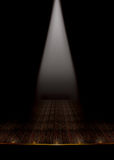 Vintage heatre stage with white spotlight stock images