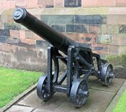 Vintage Heavy Cannon. Royalty Free Stock Images