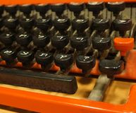 Vintage Hebrew typewriter Royalty Free Stock Photography