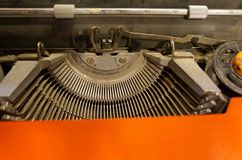 Vintage Hebrew typewriter Royalty Free Stock Image