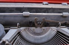 Vintage Hebrew typewriter Stock Photography