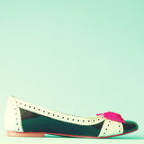 Vintage heel shoe Stock Images