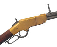 Vintage Henry rifle isolated. Royalty Free Stock Image