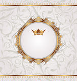 Vintage with heraldic crown, seamles stexture Stock Photo