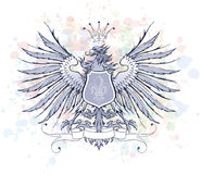 Vintage heraldic emblem Royalty Free Stock Image