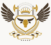 Vintage heraldry design template, vector emblem. Royalty Free Stock Photography