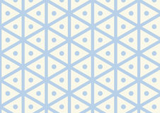 Vintage Hexagon and Circle Pattern on Pastel Color Royalty Free Stock Photography