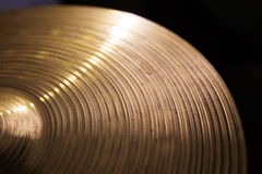 Vintage hi-hat closeup, for music Royalty Free Stock Photo