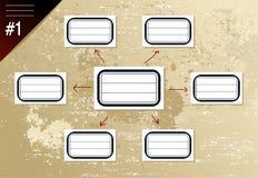 Vintage hierarchy diagram Royalty Free Stock Image
