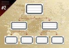 Vintage hierarchy diagram Stock Image