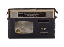 Antique hifi stereo radio. A vintage hifi mini radio stereo royalty free stock image