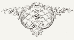 Vintage High Ornate  Background Element Royalty Free Stock Photo