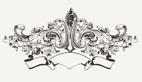 Vintage High Ornate Banner Text Royalty Free Stock Image