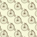 Vintage high wheeler seamless pattern Stock Photography