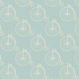 Vintage high wheeler seamless pattern Royalty Free Stock Image