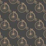 Vintage high wheeler seamless pattern Royalty Free Stock Photography