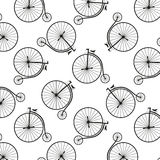 Vintage high wheeler seamless pattern Royalty Free Stock Images