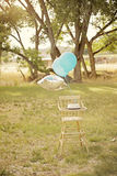Vintage highchair Royalty Free Stock Images