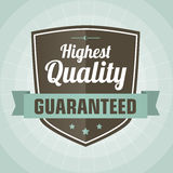 Vintage highest quality label Royalty Free Stock Photography