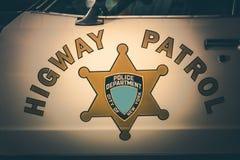 Vintage Highway Patrol Royalty Free Stock Photos