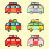 Vintage hippie van Royalty Free Stock Photography