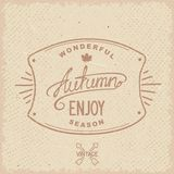 Vintage hipster autumn label Royalty Free Stock Images